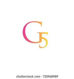 Letter G5 element logo