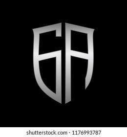Letter ga initial logo design vector