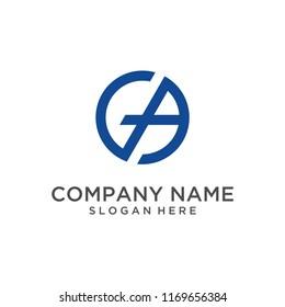 Letter GA logo design