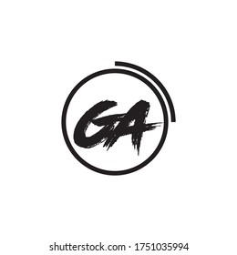 Letter GA logo icon flat and vector design template.