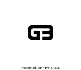 letter gb and bg logo design vector template
