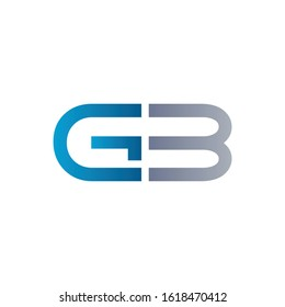 letter GB Linked Logo Vector Template. Initial Letter GB Logo Design