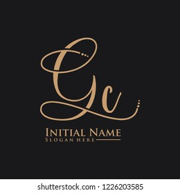 Letter Gc Logo. Initial Letter Design Vector Luxury Colors