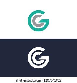 Letter GC Logo, Template logo, abtract logo, element logo