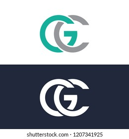 Letter GC Logo, Template logo, abtract logo, element logo
