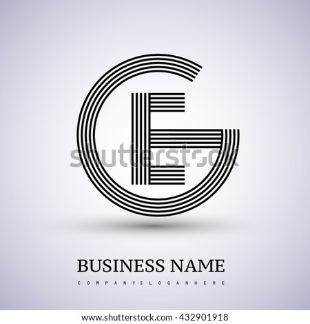 Letter Ge Linked Logo Design Circle Stock Vector Royalty Free