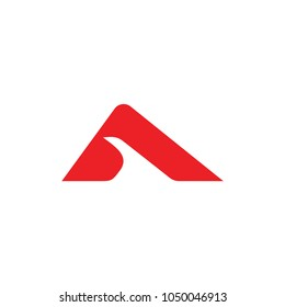 letter a geometric path design logo