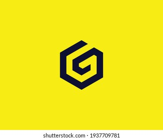 letter gg and g logo design vector template