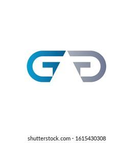 letter GG or GAG Logo Design Linked Vector Template. Initial GG or GAG Vector Illustration