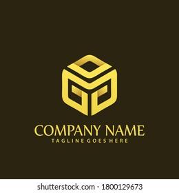 Letter GG Hexagonal Company Modern Logos Design Vector Illustration Template