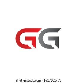letter GG Linked Logo Vector Template. Initial GG Logo Design