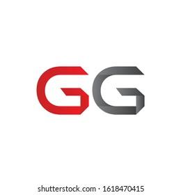 letter GG Linked Logo Vector Template. Initial Letter GG Logo Design