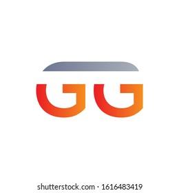 letter GG Logo Design Linked Vector Template. Initial GG Vector Illustration