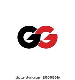 "Letter ""GG"" logo monogram. GG icon design vector"