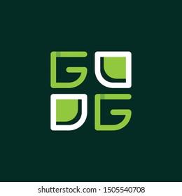 Letter GG Square Creative Modern Logo