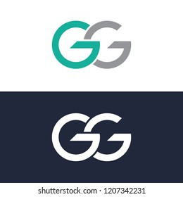 Letter GG, Template logo, abstract logo