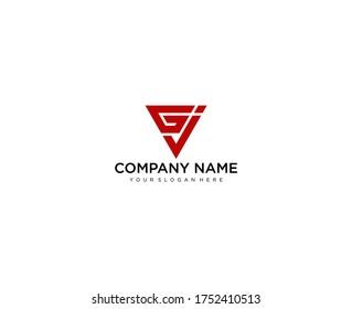 Letter GJ line logo design. Linear creative minimal monochrome monogram symbol. Universal elegant vector sign design. Premium business logotype. Graphic alphabet symbol for corporate business identity