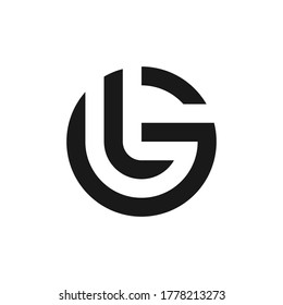 Letter GL LG logo design template