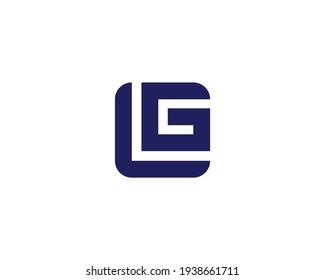 letter gl and lg logo design vector template