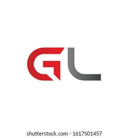 letter GL Linked Logo Vector Template. Initial GL Logo Design