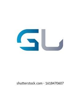 letter GL Linked Logo Vector Template. Initial Letter GL Logo Design