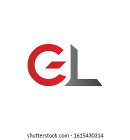 letter GL Logo Design Linked Vector Template. Initial GL Vector Illustration