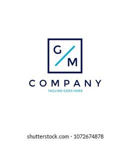 Letter GM Minimalist Modern Logo