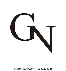 letter GN logo