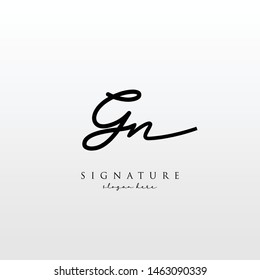 Letter GN Signature Logo Template - Vector
