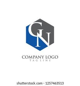 letter gn/ng logo vector
