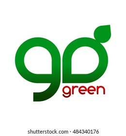 letter go green logo