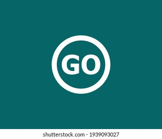 letter go and og logo design vector template