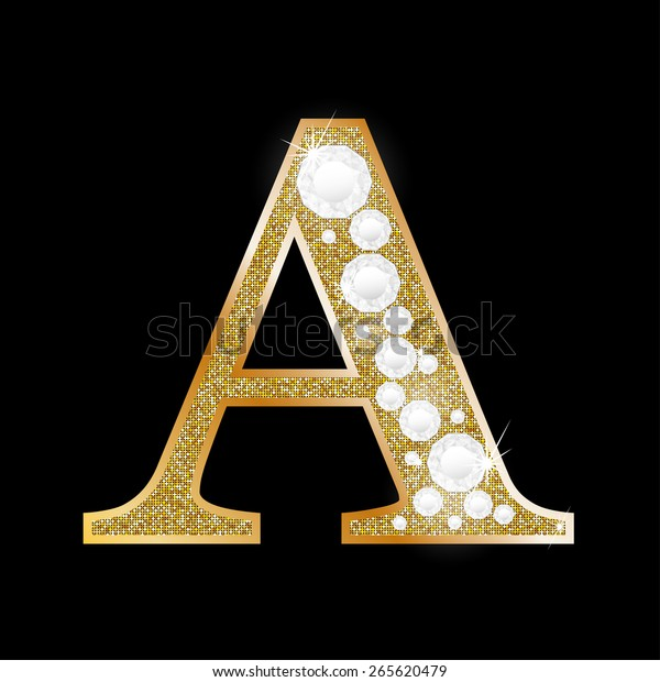 1d770823dc2 Letter Gold Diamond Stock Vector (Royalty Free) 265620479