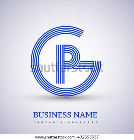 Letter Gp Pg Linked Logo Design Stock Vector Royalty Free