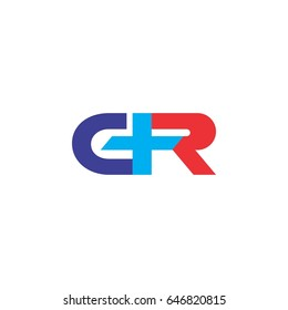 letter GR or CR with plus logo design
