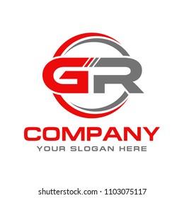 Letter GR initial logo, logo design vector