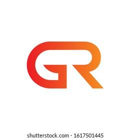 letter GR Linked Logo Vector Template. Initial GR Logo Design