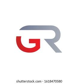 letter GR Linked Logo Vector Template. Initial Letter GR Logo Design