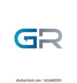 letter GR Logo Design Linked Vector Template. Initial GR Vector Illustration
