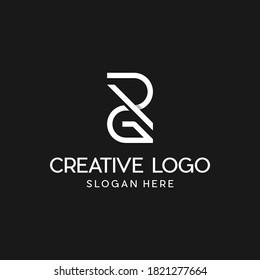 Letter GR Or RG Monogram Modern Business Logo
