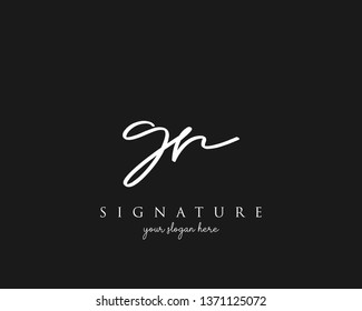 Letter GR Signature Logo Template - Vector