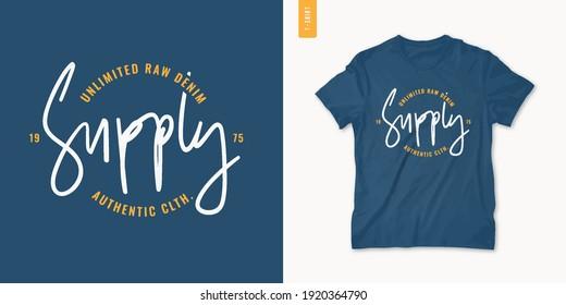 Letter graphic mens t-shirt design, print, vector illustration.