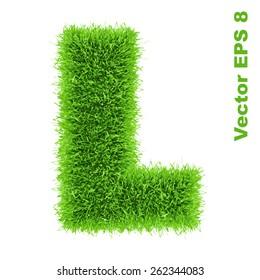 Letter of grass alphabet, vector illustration EPS 8.