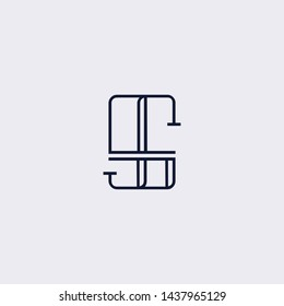 letter GS SG Clean and Minimal Initial Based Logo Design
