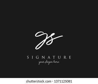 Letter GS Signature Logo Template - Vector