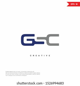 Letter GSC, GC modern Logo icon monogram design. Vector graphic design template element.