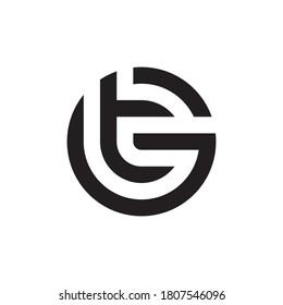 Letter GT, TG logo design