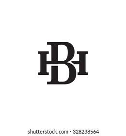 letter H and B monogram logo