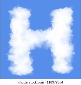 Letter H cloud shape