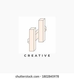 letter h creative logo design